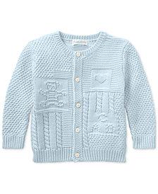 Ralph Lauren Baby Boys Contrast-Knit Cotton Cardigan