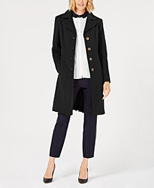 Anne Klein Petite Single-Breasted Coat