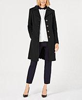 58f85187e744b Anne Klein Petite Single-Breasted Coat