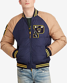 Polo Ralph Lauren Men's Big & Tall Down Letterman Jacket