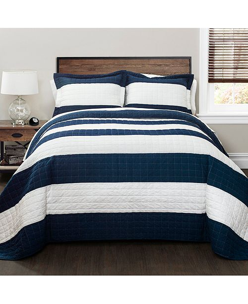 chic home new berlin stripe quilt 3pc sets home macy s