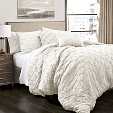 Ravello Pintuck  King Comforter 5Pc Set