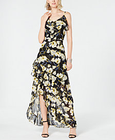 I.N.C. Petite Floral-Print High-Low Maxi Dress, Created for Macy's