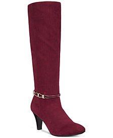 Karen Scott Hollee Wide-Calf Dress Boots, Created for Macy's