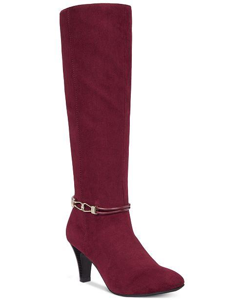 Karen Scott Hollee Wide-Calf Dress Boots, Created for Macy's