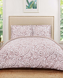 Truly Soft Watercolor Paisley Twin Extra Long Duvet Set