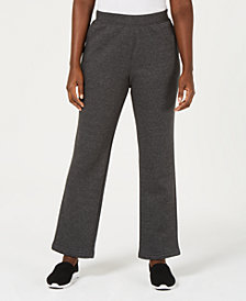 Karen Scott Side-Pocket Active Fleece Pants, Created for Macy's