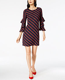 I.N.C. Ruffled-Sleeve Shift Dress, Created for Macy's