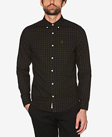 Original Penguin Men's Gingham Nep Twill Pocket Shirt