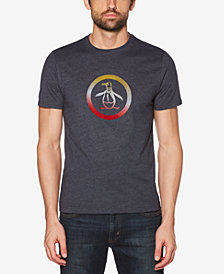 Original Penguin Men's Circle Pete Ombré Flocked Logo Graphic T-Shirt