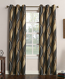 Lichtenberg Intersect Printed Grommet Curtain 48'' x 63'' Panel