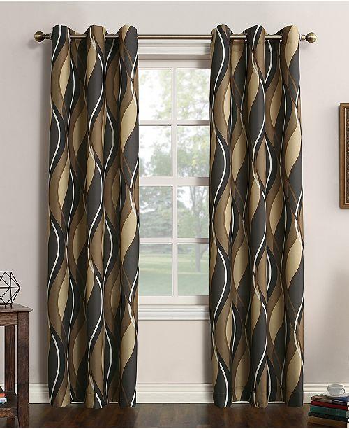 Lichtenberg Intersect Printed Grommet Curtain 48'' x 63'' Panel