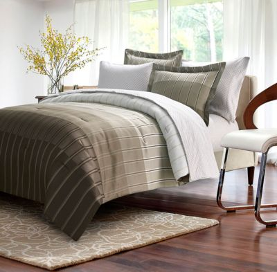 Ombre Stripe 8-Piece Bed-In-Bag, Full