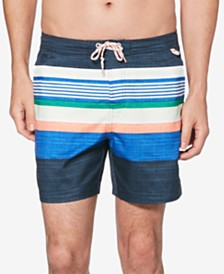Original Penguin Men's Retro Stripe Quick-Dry Swim Shorts