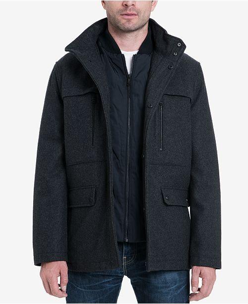 05ef82f72e1 Michael Kors Men s Wool Blend Coat   Reviews - Coats   Jackets - Men ...