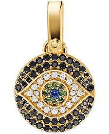 Michael Kors Women's Custom Kors 14K Gold-Plated Sterling Silver Evil Eye Charm