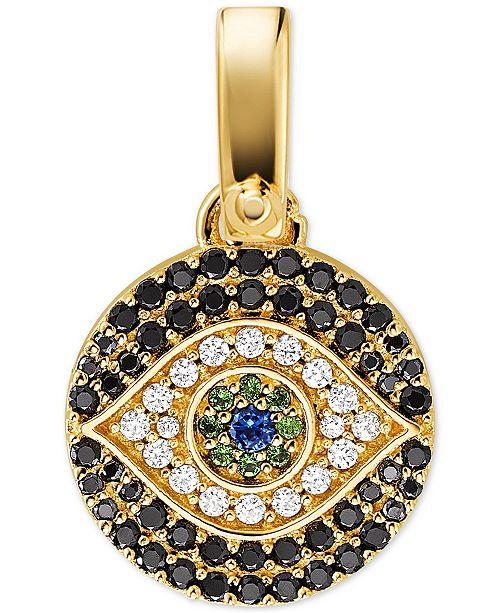 Michael Kors Women's Custom Kors 14K Gold-Plated Sterling Silver Evil Eye Charm