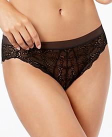 Superior Lace Mesh-Waist Bikini Underwear DK4944