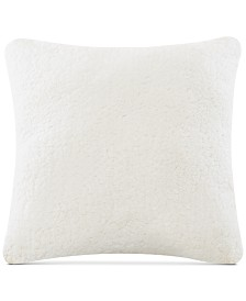 "Intelligent Design Jensen 24"" x 24"" Sherpa to Softspun Euro Pillow"