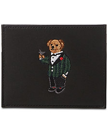 Polo Ralph Lauren Men's Polo Bear Leather Card Case