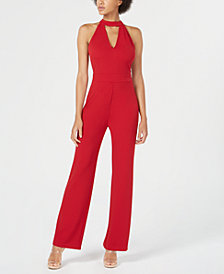 Bar III Cutout Halter Jumpsuit, Created for Macy's