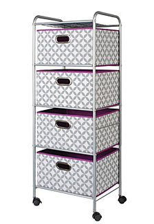 4-Drawer Storage Cart with Multicolor Bins
