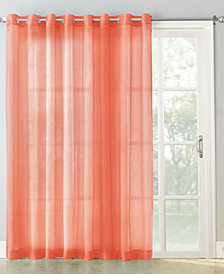 "Lichtenberg No. 918 100"" x 84"" Extra-Wide Sheer Voile Grommet Patio Curtain Panel"