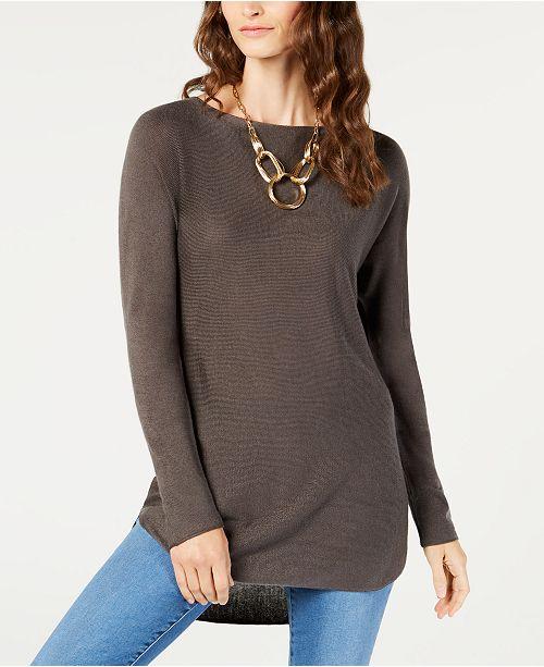 be630c98e4081 INC International Concepts I.N.C. Shirttail Sweater