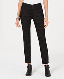 Style & Co Printed Tummy-Control Skinny Jeans, Created for Macy's