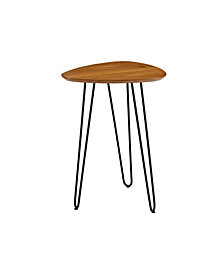 "18"" Contemporary Hairpin Leg Guitar Pick Side Table - Walnut"
