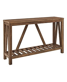 "52"" A-Frame Rustic Entry Console Table - Rustic Oak"