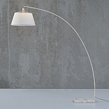 Modern Flex Arch Floor Light Lamp - White