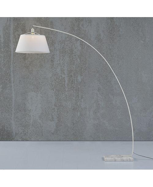 "Walker Edison 72"" Flex Arch Floor Lamp - White"