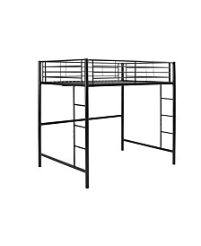 Premium Metal Full Size Loft Bed - Black