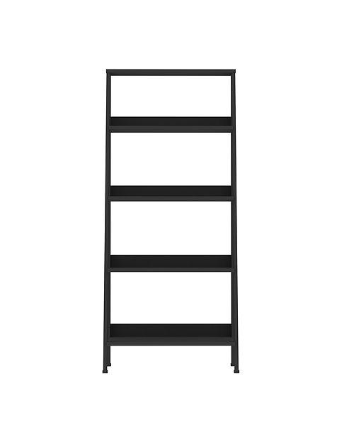 Walker Edison 55 Wood Ladder Bookshelf