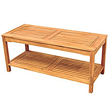 Acacia Wood Outdoor Patio Coffee Table - Brown