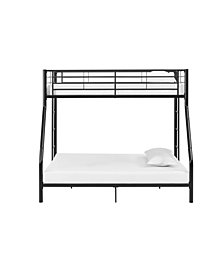 Premium Metal Twin over Full Bunk Bed - Black