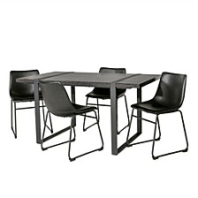 Urban Blend 5 Piece Dining Set - Charcoal/Black