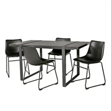 Urban Blend 5 Piece Dining Set - Charcoal/Black