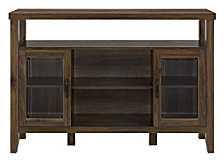 "52"" Wood Console High Boy Buffet - Dark Walnut"