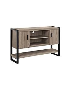 "60"" Wood Console Table Buffett TV Stand - Driftwood"