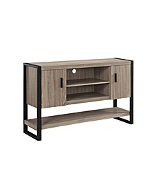 "60"" Wood Console Table Buffett TV Stand - Driftwood"
