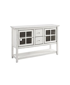 "52"" Wood Console Table Buffet TV Stand - Antique White"