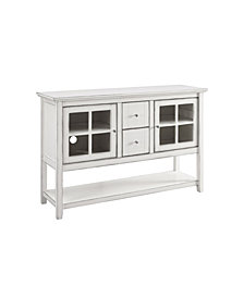 "52"" Transitional Wood Highboy TV Stand - Antique White"