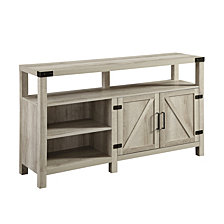 "58"" Barndoor Highboy Console - White Oak"