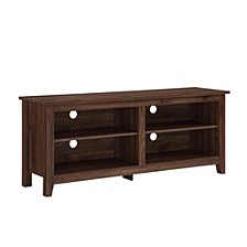 "58"" Wood TV Media Stand Storage Console - Dark Walnut"