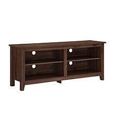 "58"" Wood TV Media Stand Storage Console - Dark Walnut"