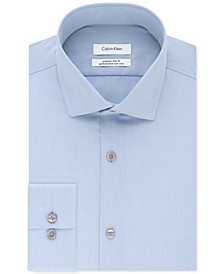 Calvin Klein Men's STEEL Extra-Slim Fit Non-Iron Performance Herringbone Dress Shirt