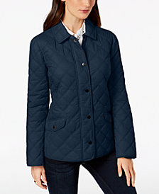 Charter Club Woven Double-Quilted Jacket, Created for Macy's