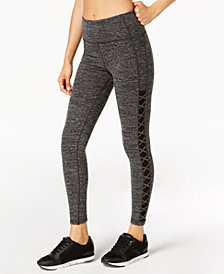 Calvin Klein Performance High-Waist Lattice-Side Leggings